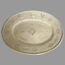 """Vintage Large VIETRI BELLEZZA Buttercream Platter 17"""""""