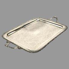 Vintage Rectangular Tray Primrose Plate E P Copper BM. Mounts 876