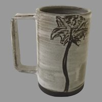 "Ceramic Coffee Cup Mug with Palm Tree by Erica Williams ""THrō Ceramics Texas"""