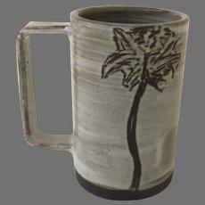 "Ceramic Coffee Mug with Palm Tree by Erica Williams ""THrō Ceramics Texas"""