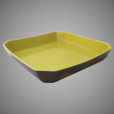 Vintage Mid Century Campo California Porcelain Serving Dish Square Canted Corners