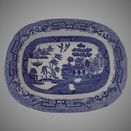 English Small Shallow Rectangular Bowl Ridgeway Late 19th Century