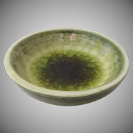 Glazed Ceramic Melted Glass Bowl by Waylande  Gregory (1905-1961)