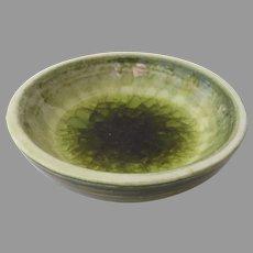 Glazed Ceramic Melted Glass Bowl by Waylande  Gregory (1905-1961)