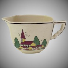 "1930's Leigh Potters ""Housetops"" Small Pitcher"