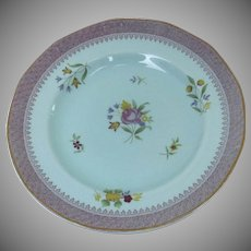 "Adams Calyx Ware Lowestoft Floral pattern # 2087 8"" Plate"