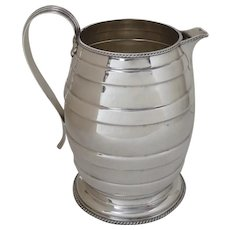 English Silver Plated Water Pitcher by Israel Freeman & Son