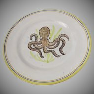 Vintage V. Pinto Vietri Signed Wall Plate Octopus