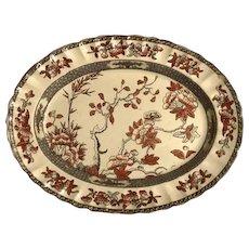 Vintage Older India Indian Tree Platter