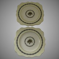 2 x Vintage Wedgwood Appledore Square Salad Dessert Luncheon Plates Scalloped Edge