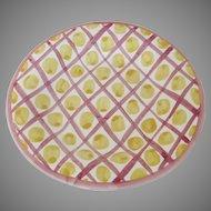 """Vintage 8"""" MacKenzie Childs Plate Special Edition Susan B. Komen"""