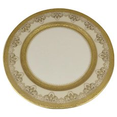 Vintage Early 20th Century William Guerin Co. Limoges, France Large Plate Raised Gold