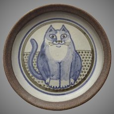 Made in Jerome Pottery Cat Dish