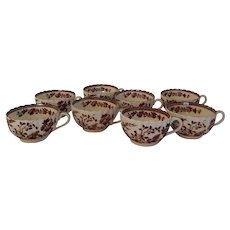 Group of 8 Vintage Spode India Indian Tree Rust Cups