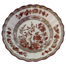 Vintage Copeland Spode India Tree Berry Fruit Bowl - Old Mark