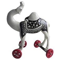 Signed Original Ceramic Camel Sculpture by Andree Richmond