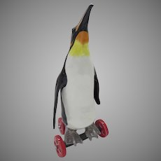 Sculpture by Contemporary American artist Andree Richmond Penguin on Wheels