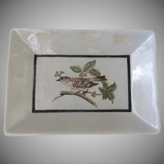 Vintage Wong Lee WL 1895 Porcelain Dish Tray Plate Bird