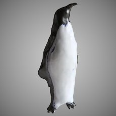 Large Ceramic Pottery Proud Penguin Sculpture