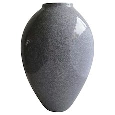 Vintage Clean Lines Vase Grey made in Canada Tall Vase Granite