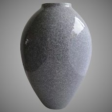 Vintage Clean Lines Vase Grey made in Canada Tall Vase Granite