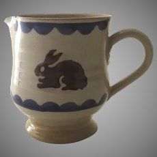 Vintage Cream Pitcher Bunny Rabbit by Nicholas Mosse Pottery Ireland