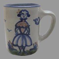 "Vintage M A Hadley Mug Cup Girl Women ""The End"""