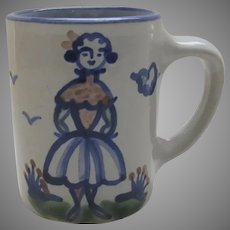"Vintage M A Hadley Mug Cup Girl Women ""The End"""