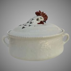 Large Vintage French Made in France Porcelain Soup Tureen Rooster