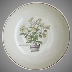 "Vintage 10"" Serving Bowl with Mustard Seed Plant in Barrel Herb Botanical"