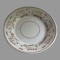 English Creamware Plate 19th Century Sprigs of Flower Delicate