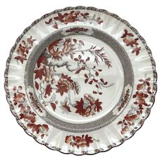 """Vintage Set of 6 Spode India Indian Tree Rust 10 1/4"""" Plates"""