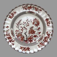 "Vintage Set of 6 Spode India Indian Tree Rust 10 1/4"" Plates"