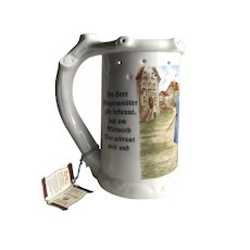 Vintage Un-used Puzzle Gerold Porzellan Bavaria W. Germany Mug Tankard