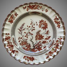 "Vintage Spode India Indian Tree Rust 10 1/4"""" Plate Older Mark"