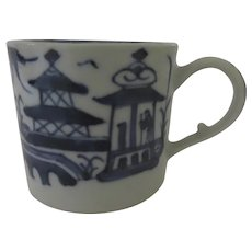 19th Century Chinese Export Canton Blue and White Landscape Cup