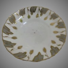 English Early 19th Century Saucer Wheat Motif Grays