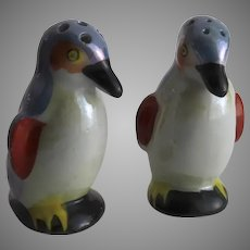 Pair of Vintage Salt and Pepper Shakers Penguins Made in Japan