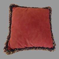 Vintage Square Pillow Cushion by Portofino Fringe