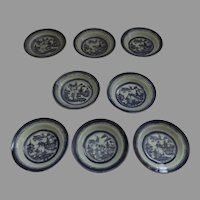 "8 x 5 3/4"" 19th Century Chinese Export Canton Small Plates"