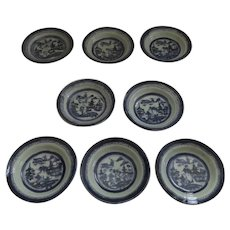 """8 x 5 3/4"""" 19th Century Chinese Export Canton Small Plates"""