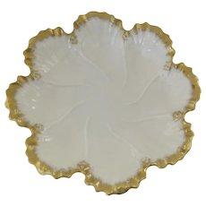 "Vintage Lenox Ivory Gold Oyster Plate 7 1/2"""