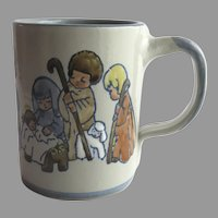 Louisville Stoneware Ceramic Mug Cup with Nativity Scene Christmas