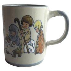 Louisville Stoneware Ceramic Mug Cup with Nativity Scene Christmas