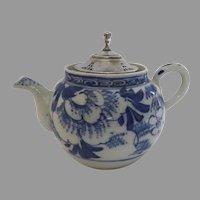 19th Century Blue and White Small Tea Pot