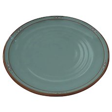 "Vintage Noritake Stoneware Boulder Ridge #8674  Serving Plate Platter Chop 12"" Native American Southwest Motif"