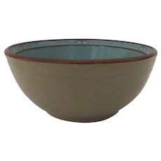 "Vintage Noritake Stoneware Boulder Ridge 8674 - 7 3/4"" Serving Bowl Native American Southwest Motif"