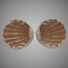 Pair (2)  Vintage Mottahedeh Vista Alegre Portugal Shell Dishes