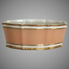 Gorgeous Vintage Coral and Gilt Shaped Planter