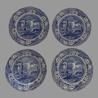 Vintage Spode Blue and White Dinner Plates